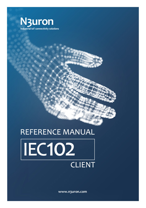 N3uron Industrial IoT communication platform Iec 102 Client Manual Cover.