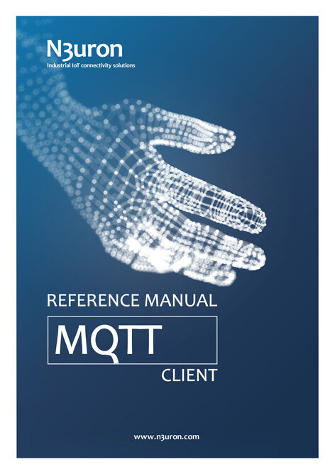 N3uron Industrial IoT communication platform MQTT Client Manual Cover. Version 1.20.