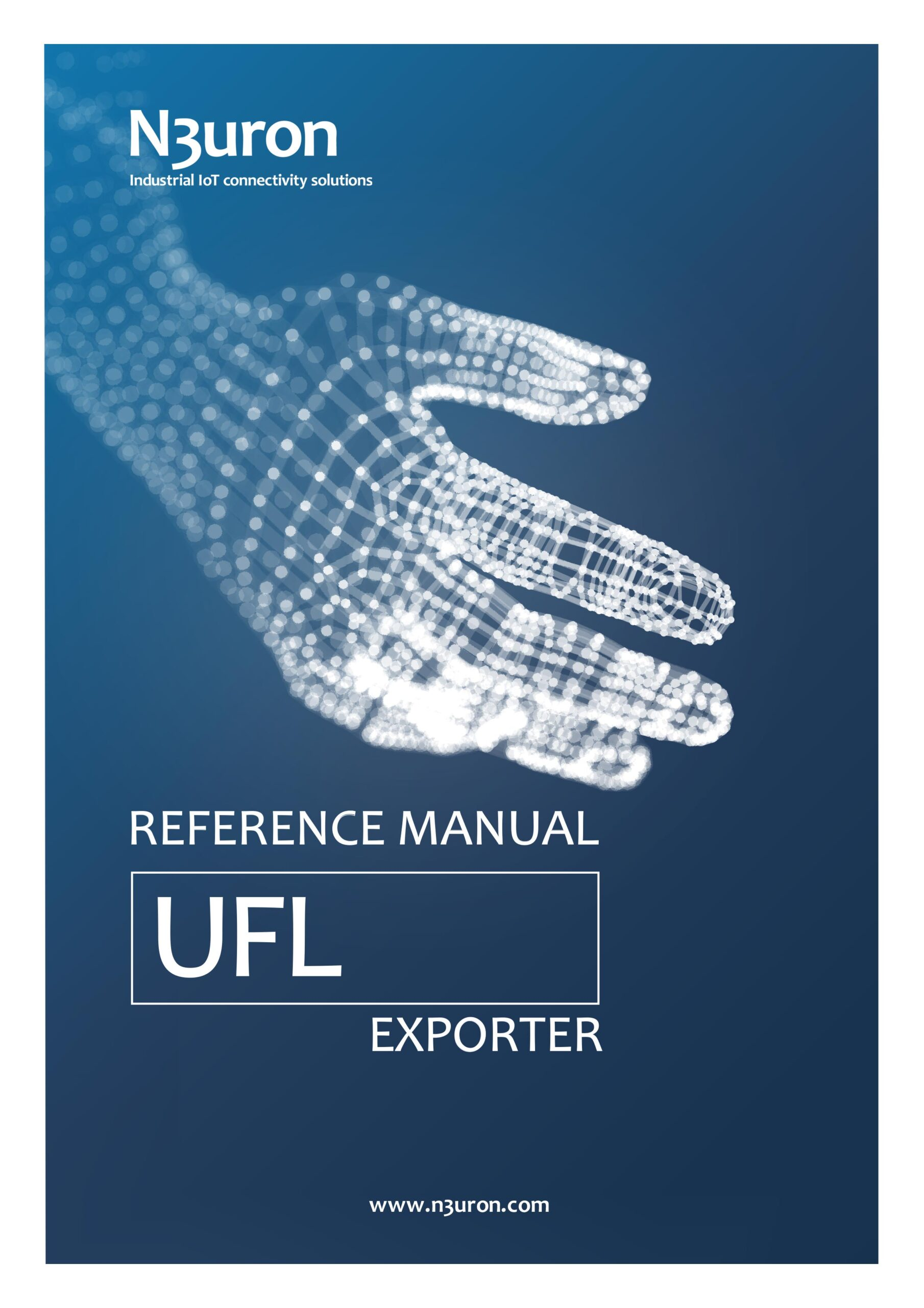 N3uron Industrial IoT communication platform UFL Exporter Manual Cover.