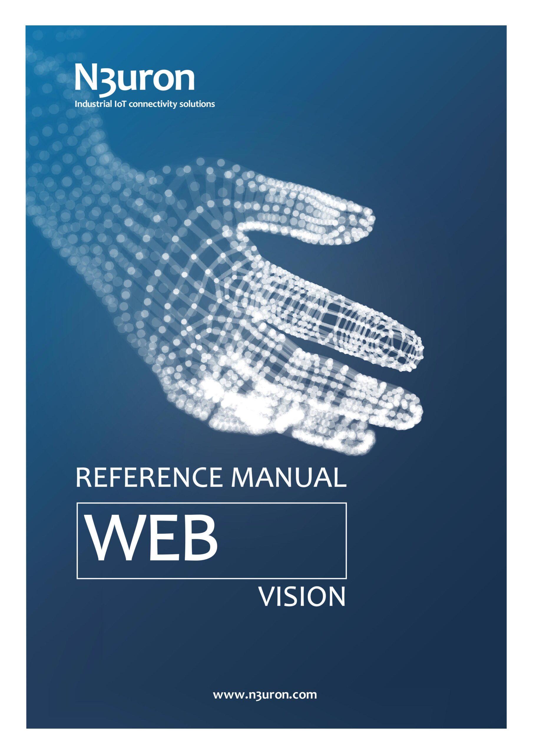 N3uron Industrial IoT communication platform Web Vision Manual Cover