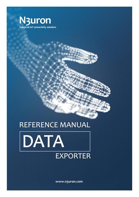 N3uron Industrial IoT communication platform Data Exporter Manual Cover.