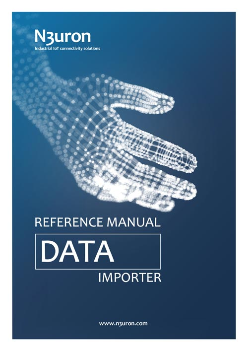 N3uron Industrial IoT communication platform Data Importer Manual Cover.
